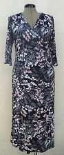 Women's Wallis jersey faux wrap leaf print dress, size 16 Petite