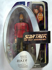 "STAR TREK TNG ADMIRAL WILLIAM RIKER 7"" FIGURE WITH GEAR & BASE / SEALED"