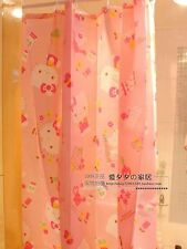 "US Seller! Hello Kitty Waterproof Shower Curtain Bathroom Girl New 70.8""×70.8"""