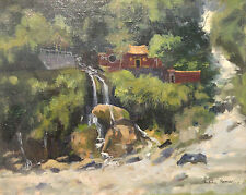 ORIGINAL SIGNED OIL PAINTING JULIAN BARROW ASIAN LANDSCAPE