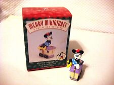 1998 Hallmark Merry Miniatures Minnie's Luggage Car Mickey Express Ornament