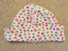 ADORABLE! GERBER NEWBORN PINK & BLUE FLOWERS INFANT SKULL CAP HAT REBORN