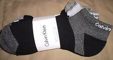 CALVIN KLEIN Cushion Sole Athletic 6pr Mens socks Low Cut No Show One Sz Black