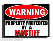 Mastiff English Brindle Large Breed Guard Dog Yard Warning Aluminum Sign WS268GN