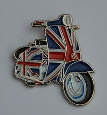 Union Jack Scooter Quality Enamel Pin Badge