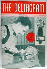 DELTA TOOLS COMPANY DELTAGRAM BROCHURE  DECEMBER 1937 BANJO CLOCK VINTAGE