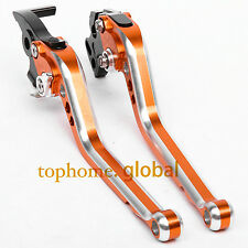 Long Brake Clutch Levers for KTM Duke 125 250 390 RC125/250/390 CNC Orange Mix