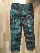 US Army BDU Woodland Camo Combat Pants X-Large Long