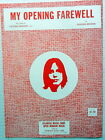 JACKSON BROWNE Sheet Music MY OPENING FAREWELL Criterion Publ. 70s FOLK Rock POP