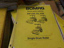 BOMAG BW124D, PD, PDB SINGLE DRUM ROLLER PARTS CATALOG / MANUAL