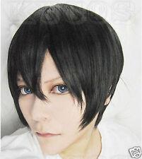 Free shipping~Haruka Nanase Short Black Cosplay Wig ZZA01
