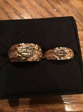 Harley Davidson Motorcycles Men's And Woman's Matching Bands 10k Y Gold Ring 9g