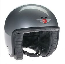 DAVIDA JET HELMET 80102S SILVER WITH BLACK LEATHER. SMALL- HAND MADE