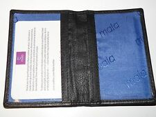 BNWT Mala Leather ID BUS PASS OYSTER train travelcard holder new 6105T black