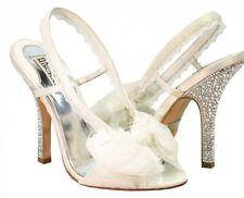 $795 BADGLEY MISCHKA Bryant crystal rhinestone ivory white wedding dress heels