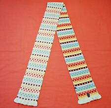 VINTAGE AUTHENTIC GAP STARS KNITTED LAMBSWOOL AND RABBIT HAIR WOMEN LONG SCARF