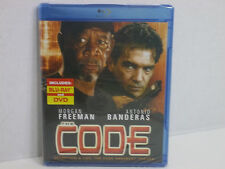 THE CODE  STARING MORGAN FREEMAN & ANTONIO BANDERAS! NEW! Blu-ray  2-Disc