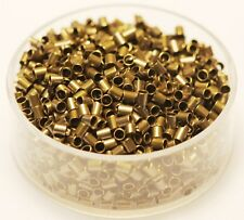 Vintage Brass Tube Crimp Beads 2 x 2 Mm Pkg.of 500 P. (Hole 1.5 mm ) Raw Brass