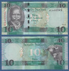 SÜDSUDAN / SOUTHSUDAN 10 Pounds 2015 (2016) UNC P. NEW