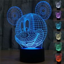 3D Bulbing Disney Mickey Mouse Night 7 color change LED Desk Table Light Lamp