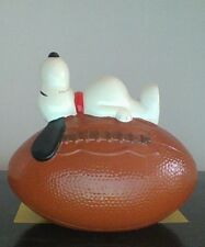 Vintage Peanuts Snoopy Football Bank Excellent Condition Hard To Find