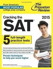 Cracking the SAT with 5 Practice Tests, 2015 by Princeton Review (Paperback) NEW