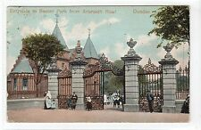 ENTRANCE TO BAXTER PARK FROM ARBROATH ROAD, DUNDEE: Angus postcard (C14786)