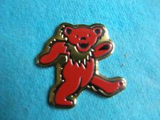 Grateful Dead 1.25 Inch Red Dancing Bear Metal Metallic Sticker