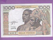 ( Ref: B.195) BANQUE DE L'AFRIQUE DE L'OUEST 1000 FRANCS (NEUF) 1978-79 Non Daté