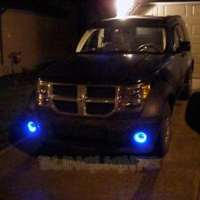 2007-2012 Dodge Nitro Blue Halo Angel Eye Fog Lamps Driving Lights Foglamps Kit