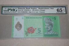(PL) RM 5 ZC 0002909 PMG 65 EPQ 3 ZERO LOW NICE FANCY NUMBER REPLACEMENT GEM UNC
