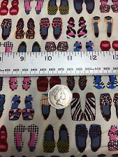 Fabric Freedom 100% Cotton 'Shoes' Craft & Fashion Fabric Material