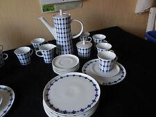 Kaffeeservice Melitta Paris Blau Weiß Jupp Ernst sehr gut erhalten Vitrinenstück