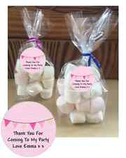 24 Personalised Pink Bunting Baby Shower DIY Cello Party Sweetie Favour Bags