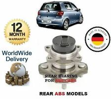 FOR TOYOTA YARIS + YARIS VERSO 1999-2005 REAR ABS WHEEL BEARING HUB KIT COMPLETE