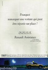 Publicité advertising 1991 Renault Assistance