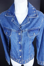 Small Don't Mess with Texas Denim Jean Jacket Embellished Western Womens S