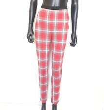 TOPSHOP Womens Red Check Treggings Size 12 Plaid Stretch Trouser Pants  Leggings