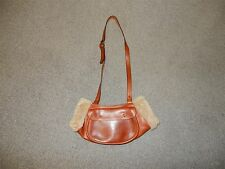 RARE J PETERMAN LEATHER ITALY HAND WARMER MUFF PURSE DESIGNER BAG