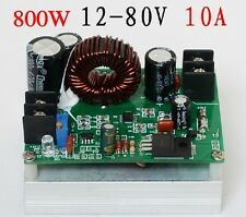 800W Boost DC-DC Converter Power Supply Step-up Module 12V 19v 24v 48v to 12-80V