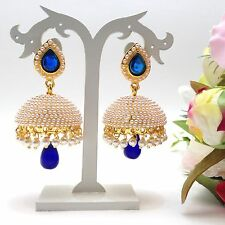 Indian Bridal Jewellery Bollywood Asian Ethnic Wear Polki Earrings Length:2.4""