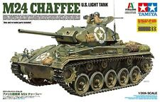 Tamiya 1:35 US Light Tank M24 Chaffee Plastic Model Kit 37020 TAM37020