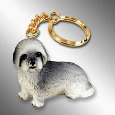 LHASA APSO  ~ GRAY SPORT CUT  ~ KEY CHAIN
