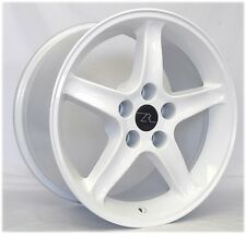 "17"" White Mustang Cobra R ® Style Wheels Set (4) 17x9 Inch Rims 5x114.3 94-04"