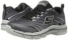 Skechers Charcoal Lace Sneakers NIB  with Memory Foam Boys Size 1 1/2