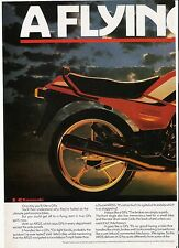 Kawasaki AR125 classic period motorcycle advert 1985