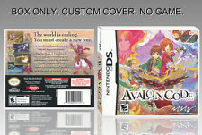"NINTENDO DS : AVALON CODE. UNOFFICIAL COVER. ORIGINAL BOX. ""NO GAME"". ENGLISH."