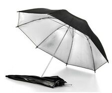 "33"" 83cm Studio Flash Light Reflector Black Silver Umbrella f Camera Speedlite D"