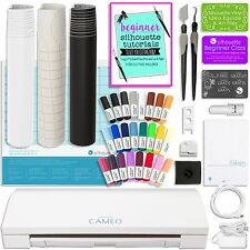 Silhouette Cameo 3 Bluetooth Bundle with 24 Pen Set, Vinyl Rolls, Transfer Tape,