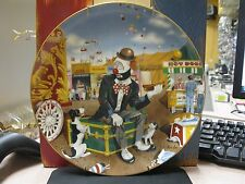 "Ron Lee ""Hold the Onions"" World of Clowns Plate Free Shipping Shelf # 23"